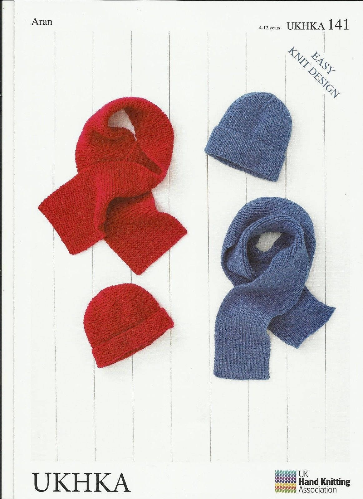 61931ca1789a Childrens Scarves and Hat Aran Knitting Pattern easy knit