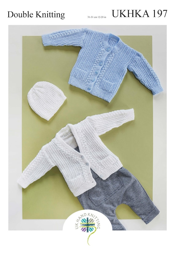 4 Ply Pattern Jacket Hat Mittens Bootees Wool Premature To 2 Yrs 31-56 cm