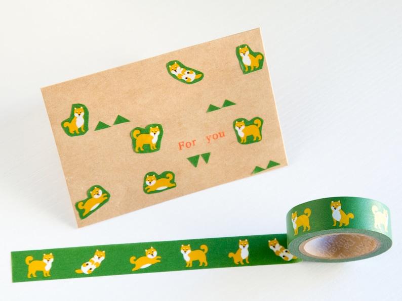 Shiba-Inu washi tape,Shiba stationery Shiba Dog masking tape Japanese Dog Tape