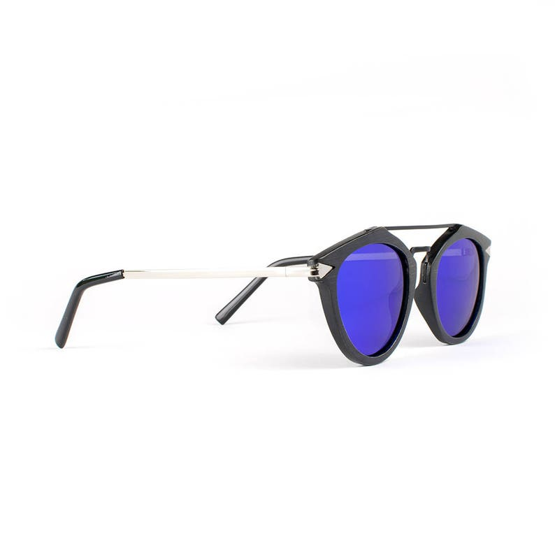 7361afecad Wooden Sunglasses Wood Frame Sunglasses Silver Finish