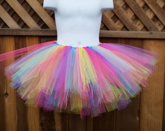 91c844a92152 Colorful Rainbow Tutu Unicorn Birthday Tutu Tulle Skirt Birthday Gift Baby  Shower Gift Newborn Photo Prop