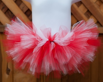 409f931b6 Red and White Tutu/Christmas Tutu/Angels Tutu - Other Colors Available