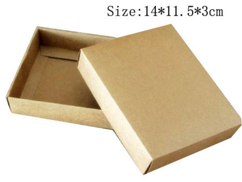 7910878ca06 Wholesale 40pcs lot 1411.53cm Kraft Paper Packing Box