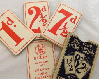 Change for a shilling playing cards