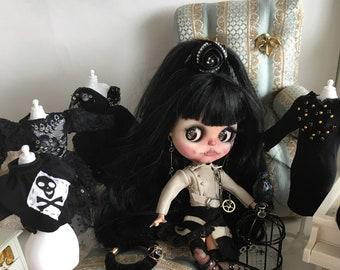 Jacket Blythe /Jacket Pullip/Blythe outfits/Blythe clothing/Doll jacket /Doll outfit /Doll Clothing.leather jacket blythe/jacket Pink Blythe