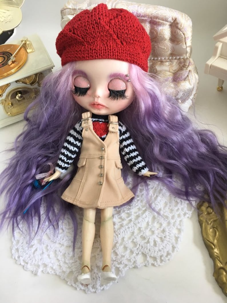 2pcs Fashion Knitted Sweater For 1:6 Doll Woven Top Dress Christmas Gift