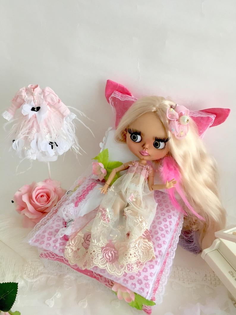 Takara Blythe Doll Furniture Lovely Pink Bedding PF
