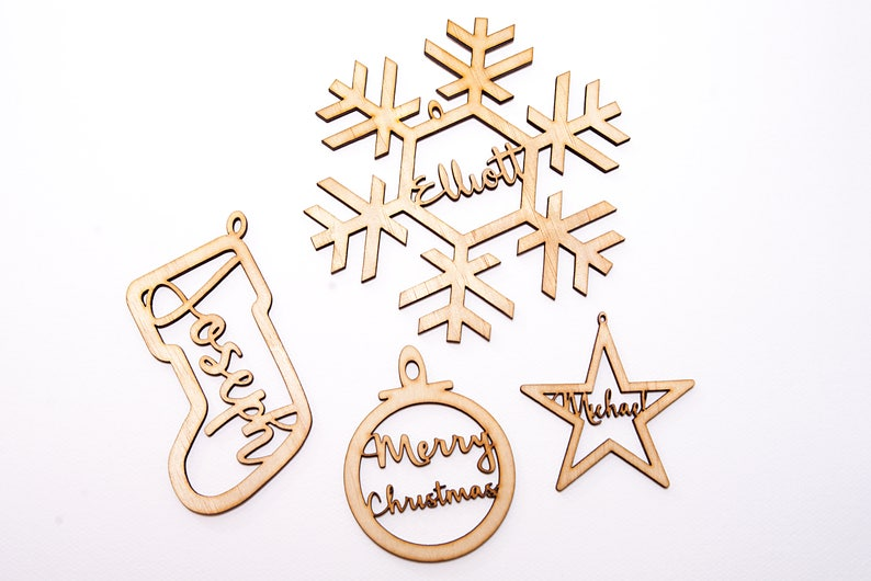 Custom made Wooden Christmas Tree Ornaments image 0