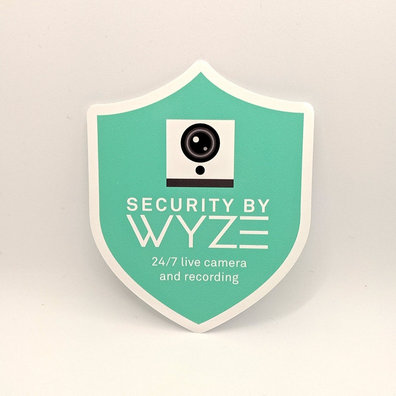 Indoor/Outdoor Wyze Cam Security Camera static window cling (Official!)