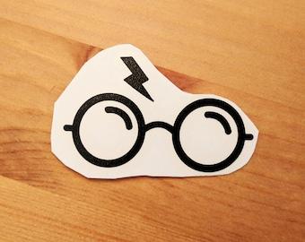 Harry Potter Glasses and Scar vinyl laptop decal/transfer sticker