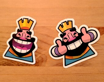 Clash Royale King Emote Die Cut Sticker Pack (for Clash Royale Party!)