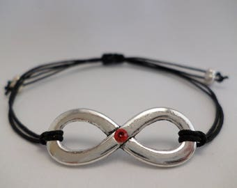 Bracelet - Infinity - with rhine stone - different colours !