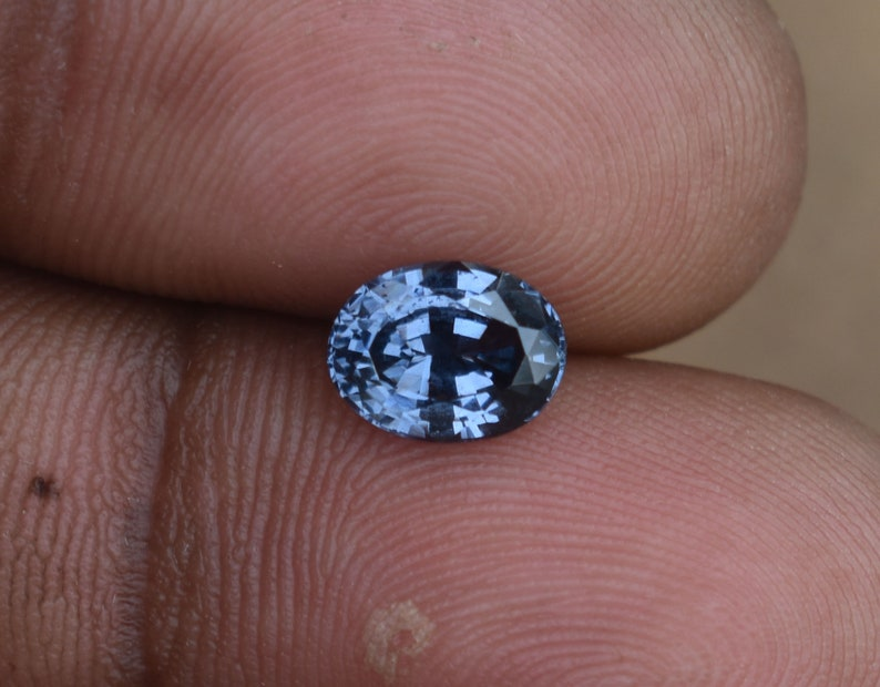 1.52 Ct Ceylon Violet Blue Spinel Oval Mixed Cut Natural Untreated Flawless EMS Shipping Video