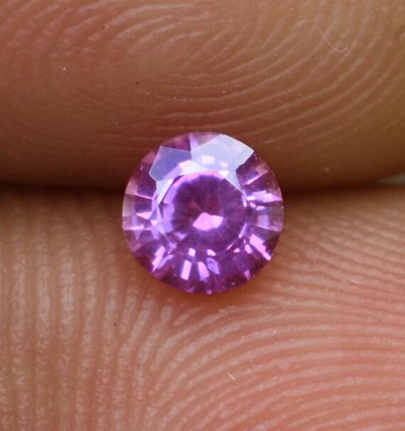 0,47 vrac ct vrac 0,47 Ceylan naturel rose saphir VVS non chauffée ronde coupe mixte 5f30ec