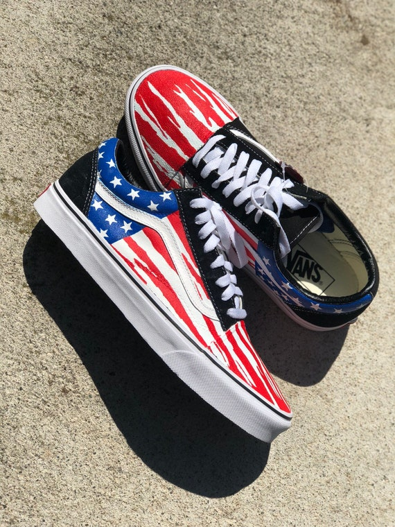 75f35cee724e3 Custom Vans 4th of July
