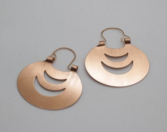 4e42b85d63a6 Large mapuche copper earrings (Oval)