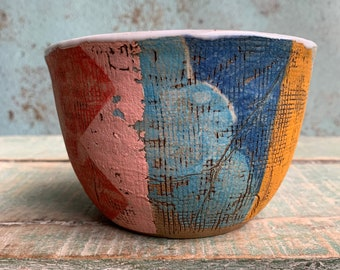READY TO SHIP Ceramic Pottery Cereal Nibbles Bowl Dish Rustic Texture Australia