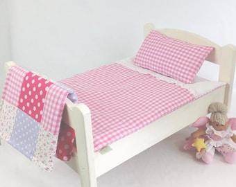 Pink Gingham Dolls Bedding Set