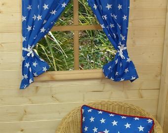 Blue Star Playhouse Curtains