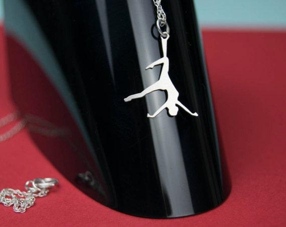 Aerial circus necklace - Whimsical - circus - circus necklace - kinbaku - shibari - Gift for Gymnast  - Strong Woman Necklace - Circus Party