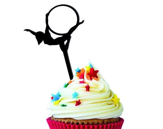 Cupcake Toppers - rainbow cake toppers - glitter cake toppers - aerial cake toppers - circus cake toppers - circus party - circus cake