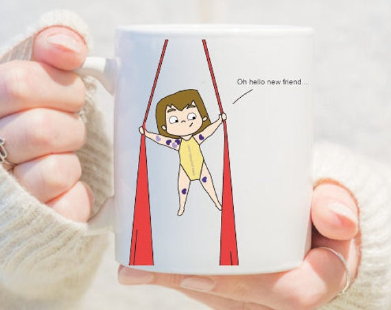 Aerial silks mug, gift for women, unique coffee mug, coffee mug, aerial problems, circus problems, circus gift, circus mug, circus Mug