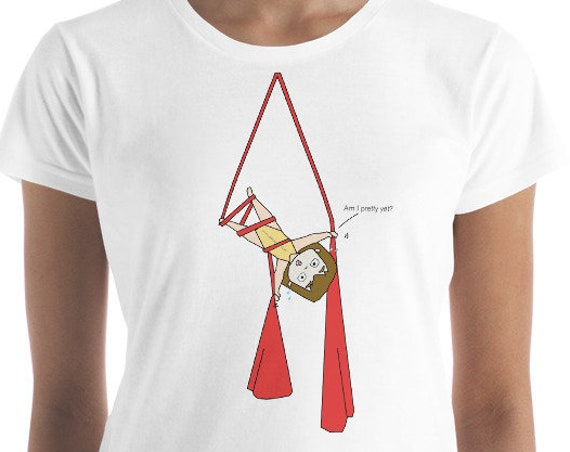 Women's short sleeve t-shirt, Aerial problems tshirt, circus tshirt, aerialist, circus gift, circus party, funny tshirt, fitnesswear