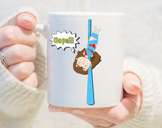 aerial silks mug, gift for girls, unique coffee mug, coffee mug, aerial problems, circus problems, circus gift, circus mug, circus, yoga