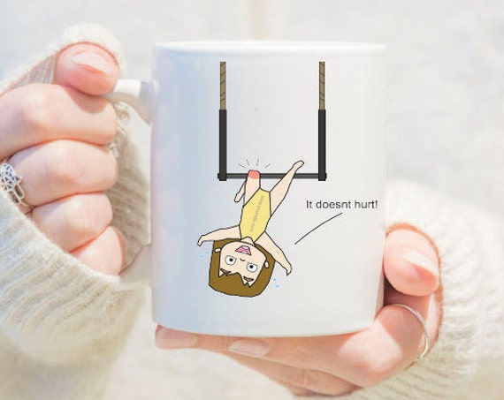 aerial trapeze mug, gift for girls, unique coffee mug, coffee mug, aerial problems, circus problems, circus gift, circus mug, circus party