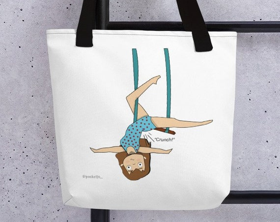 Aerialist Tote bag, trapeze gift, circus gift, gift for acrobat