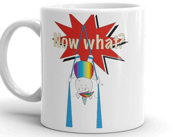 aerialist Mug, trapeze mug, circus gift, aerialists, aerial problems, acrobat gift, unicorn, rainbow, unicorns