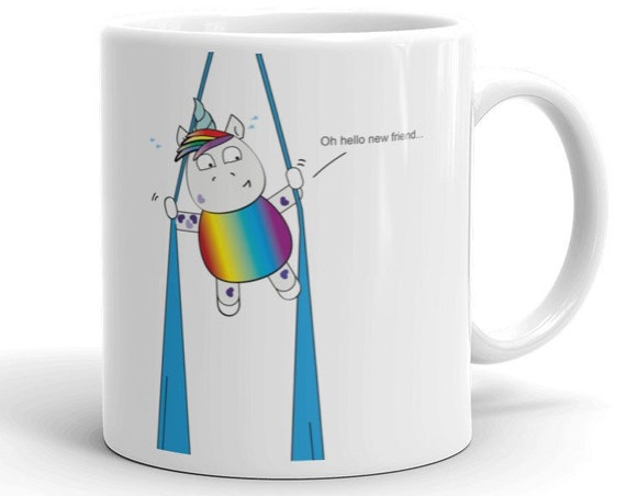 aerialist Mug, trapeze mug, circus gift, aerialists, aerial problems, acrobat gift, unicorns, unicorn, rainbow , greatest showman