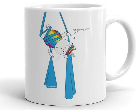 aerialist Mug, trapeze mug, circus gift, aerialists, aerial problems, acrobat gift