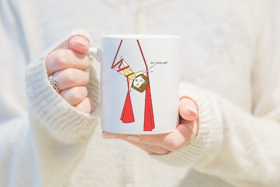 aerial silks mug, gift for girls, unique coffee mug, coffee mug, aerial problems, circus problems, circus gift, circus mug, circus party