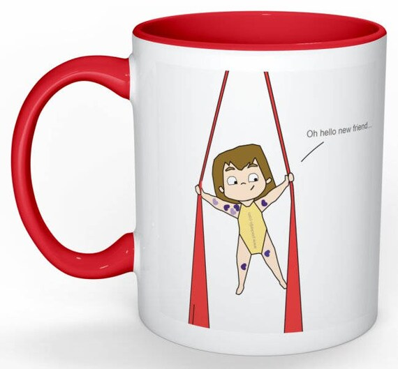 aerial silks mug, gift for women, unique coffee mug, coffee mug, aerial problems, circus problems, circus gift, circus mug, circus party