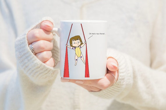 Aerial silks mug, gift for women, unique coffee mug, coffee mug, aerial problems, circus problems, circus gift, circus mug, circus Mug