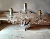 2 wall lights in glass and Crystal, Murano style, Kare Schonhofen pendants