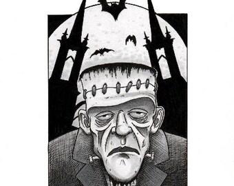 Frankenstein's Monster Original Illustration