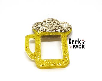 Brooch mug of beer happy hour gluten!
