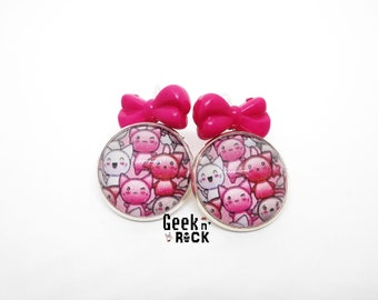 Kawaii cat earrings