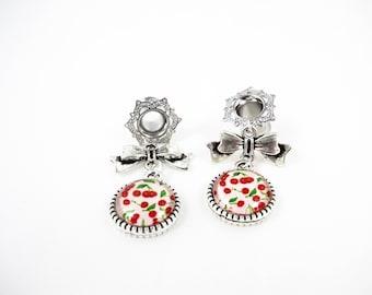 6 mm - Pin plug'up Rockabilly retro cherries