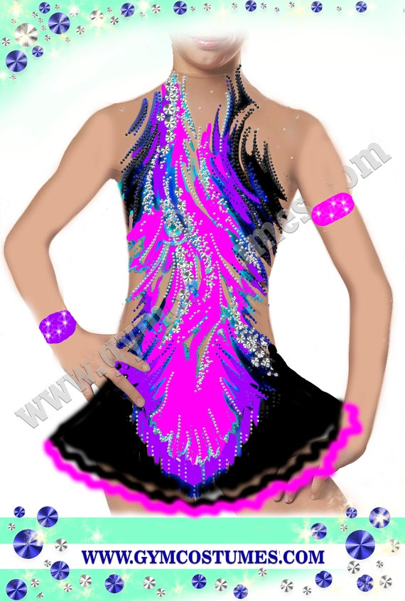Masterclass * *  figure skating dress Acrobatic Rock/'n/'Roll show dance Twirling, roller skating dress