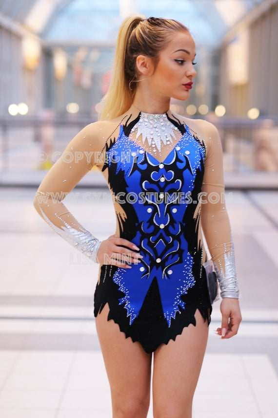 RSG Anzug Anzug für rhythmische Sportgymnastik Rhythmische Gymnastik Sportakrobatik Akrobatischer Rock'n'Roll Eiskunstlaufkleid Kürkleid