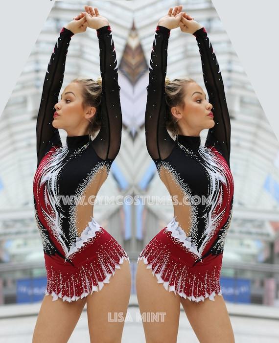 Acrobatic Rock/'n/'Roll competition  rhythmic gymnastics leotard Leotard Twirling dance dress acrobatics suit Masterclass  **  RG