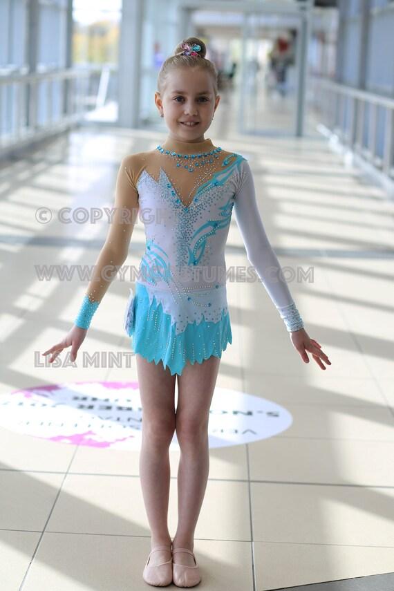 Leotard Twirling dance dress Acrobatic Rock/'n/'Roll acrobatics suit competition  rhythmic gymnastics leotard RG