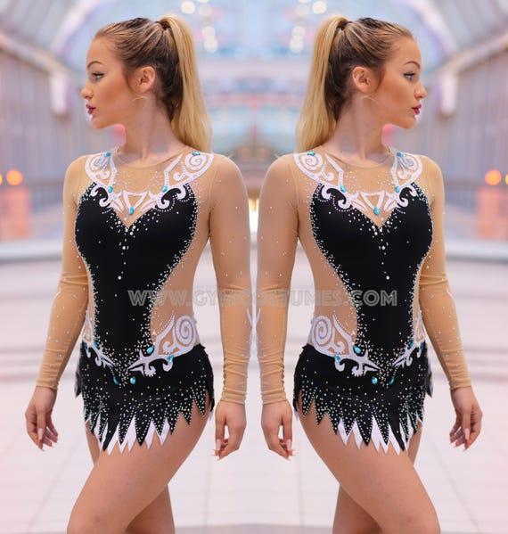competition  rhythmic gymnastics leotard acrobatics suit Masterclass  **  RG Twirling dance dress Acrobatic Rock/'n/'Roll Leotard