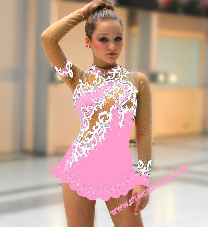 roller skating dress Acrobatic Rock/'n/'Roll show dance Masterclass * *  figure skating dress Twirling,