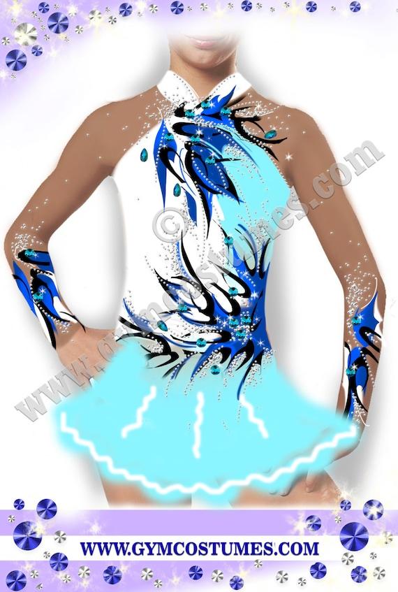roller skating dress Twirling, Acrobatic Rock/'n/'Roll show dance Masterclass * *  figure skating dress
