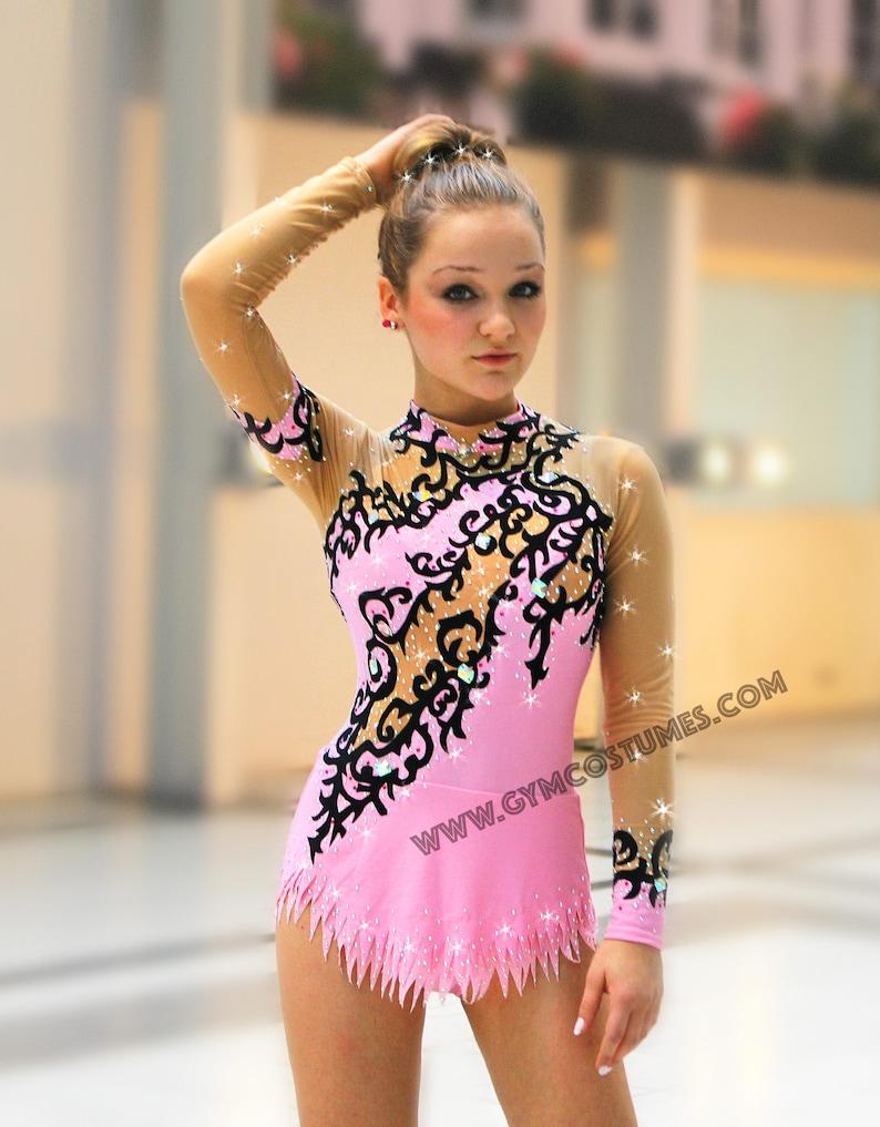 Masterclass  **  RG competition  rhythmic gymnastics leotard Leotard acrobatics suit Acrobatic Rock/'n/'Roll Twirling dance dress