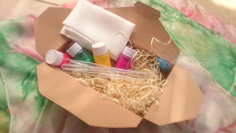 Diy Kit Make Your Silk Scarf Kit Funfetti Bithday Cake